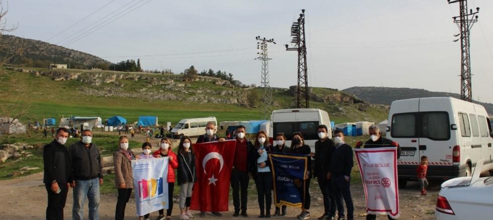 Alleben Rotary'den tarım işçilerine destek