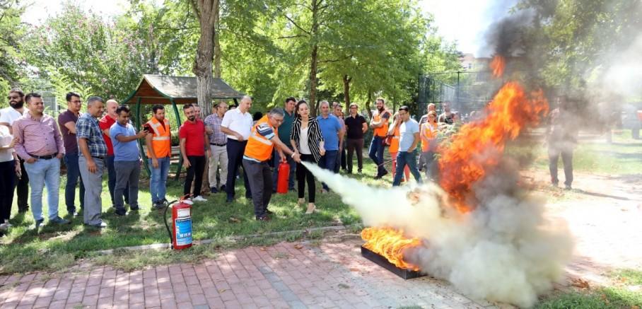 GAÜN'deki Yangın Eğitimine İlgi