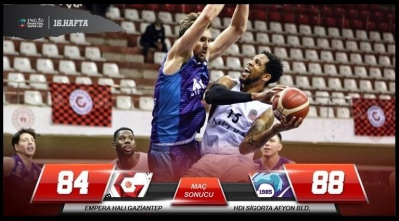 Gaziantep Basketbol Kendi Evinde Afyon Belediyespor'a 88-84 Yenildi