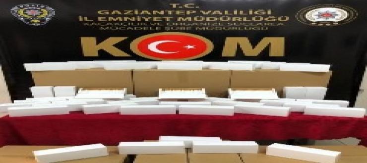 Gaziantep polisinden kaçakçılığa darbe