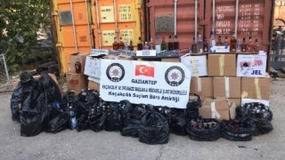 Gaziantep'te Sahte İçki ve Kaçak Sigara Operasyonu