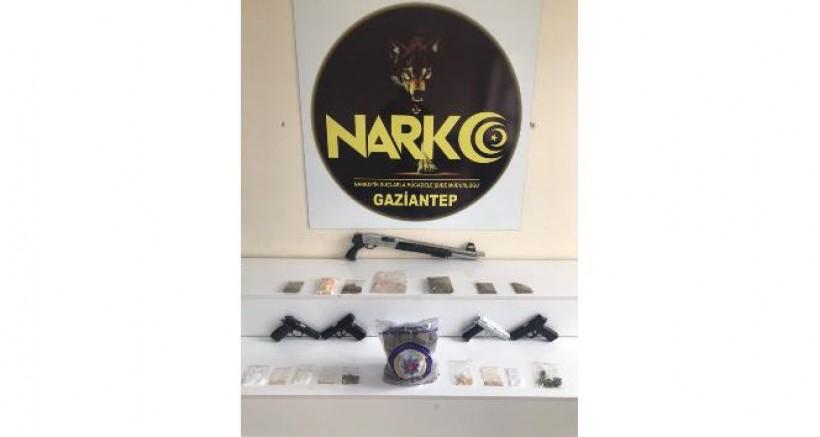Gaziantep'te uyuşturucu operasyonu 22 gözaltı