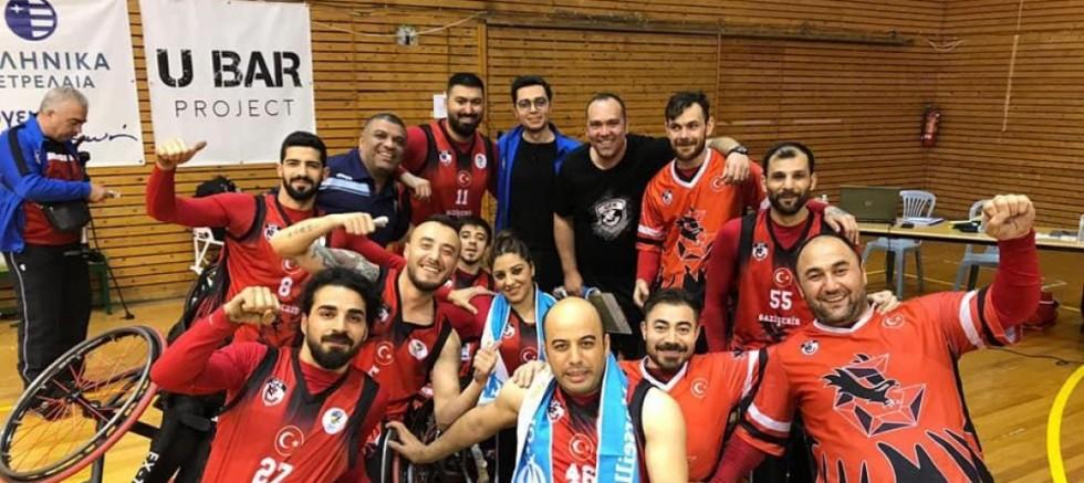 Gaziantep Tekerlekli Basketbol takımımız grup şampiyonu oldu