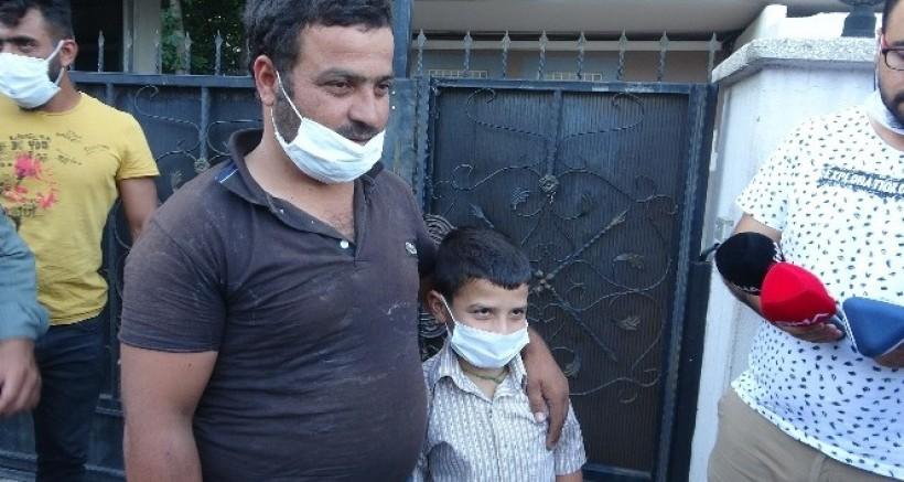 Kaybolduktan 5 gün sonra bulunan 10 yaşındaki Hüseyin ailesine kavuştu