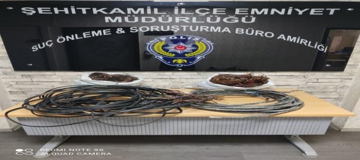 Polis'ten Kablo Hırsızına Suçüstü