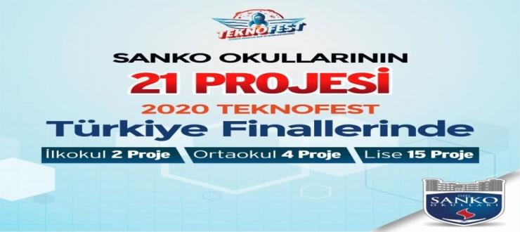 SANKO OKULLARI'NIN 21 PROJESİ TEKNOFEST 2020 FİNALLERİNDE