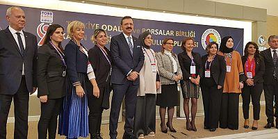 KADIN GİRİŞİMCİLER KURULU BAŞKANLARI TOBB'DA BİR ARAYA GELDİ