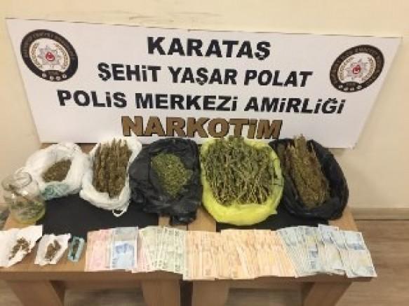 Uyuşturucu madde ticaretine suçüstü baskın